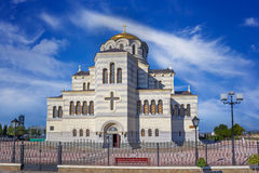 Chiesa della st Vladimir in Chersonesos Immagine Stock