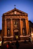 Chiesa della Toscana, dell'Italia e del cielo Fotografia Stock Libera da Diritti