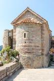 Chiesa della trinità santa in Budua, Montenegro Immagini Stock Libere da Diritti