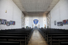 Chiesa della trinità santa in conduttura di Gemunden  Fotografia Stock Libera da Diritti