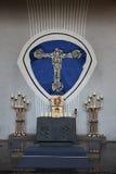 Chiesa della trinità santa in conduttura di Gemunden  Immagini Stock