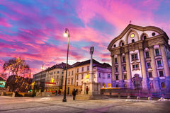 Chiesa della trinità santa, Ljubljan, Slovenia di Ursuline Immagini Stock Libere da Diritti