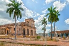 Chiesa della trinità santa a sindaco della plaza Fotografie Stock