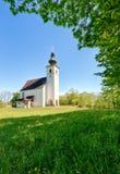 Chiesa delle alpi dell'Austria in villaggio Golling Immagini Stock