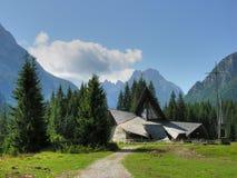 Chiesa delle dolomia, Val Visdende, Italia, luglio 2009 Immagini Stock Libere da Diritti