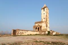 Chiesa delle saline di Las in Cabo de Gata, Spagna Immagine Stock Libera da Diritti
