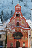 Chiesa dello Spirito Santo/Füssen in Wint Fotografie Stock