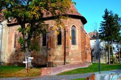 Chiesa dentro la fortezza della città Targu-Mures, Romania Immagini Stock