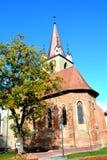 Chiesa dentro la fortezza della città Targu-Mures, Romania Fotografie Stock