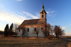Chiesa desolata Fotografie Stock