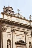 chiesa di圣达尼埃莱Martire门面在帕多瓦 免版税库存图片