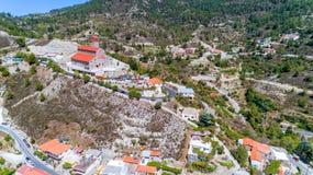 Chiesa di Agios Arsenios, Kyperounda, Limassol, Cipro immagini stock libere da diritti