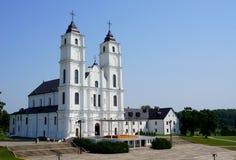 Chiesa di Aglona nel Latvia Fotografia Stock