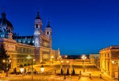 Chiesa di Almudena di Madrid, Spagna Fotografia Stock Libera da Diritti