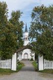 Chiesa di Alta situata in Bossekop Finnmark Fotografia Stock