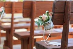 Chiesa di amore delle decorazioni di nozze fotografia stock libera da diritti