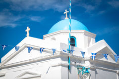 Chiesa di Angios Nikolaos, Mykonos, Grecia. Fotografie Stock