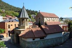 Chiesa di ascensione di Amaghleba a Tbilisi, Georgia fotografie stock