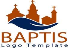 Chiesa di Baptis e modello di logo Fotografie Stock
