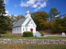 Chiesa di bianco della Nuova Inghilterra Fotografie Stock Libere da Diritti