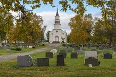 Chiesa di Bossekop Alta Fotografia Stock