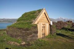 Chiesa di Brattahlid greenland Ciao ricerca fotografia stock libera da diritti