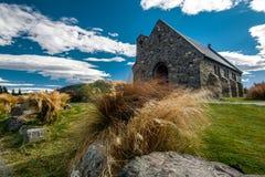 Chiesa di buon pastore, isola del sud, NZ Fotografie Stock