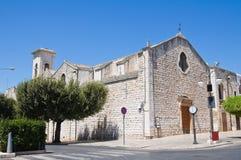 Chiesa di carminio. Fotografia Stock