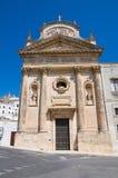 Chiesa di carminio. Ostuni. La Puglia. L'Italia. Fotografie Stock