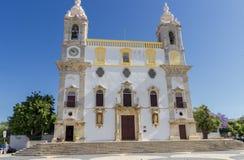 Chiesa di Carmo a Faro in Algarve Portogallo fotografia stock libera da diritti