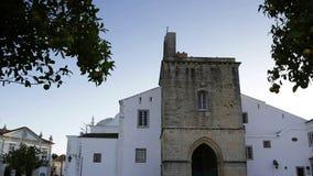 Chiesa di Catedral di vecchia città di Faro Santa Maria Il Portogallo Algarve archivi video