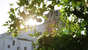 Chiesa di Catedral di vecchia città di Faro Santa Maria Il Portogallo Algarve stock footage