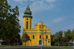 Chiesa di Chatolic in Ajka, Ungheria Fotografia Stock