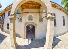 Chiesa di connessione di San Nicola nel bulgaro Zheravna Fotografia Stock Libera da Diritti