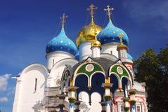 Chiesa di Dormition in trinità Sergius Lavra, Sergiev Posad, Russia Mondo Herit dell'Unesco Immagine Stock Libera da Diritti