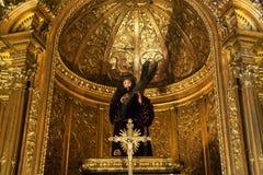 Chiesa di Dourado dell'altare di Santa Maria de Belem Immagini Stock