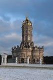 Chiesa di Dubrovitsy vicino a Mosca, Russia immagine stock libera da diritti