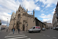 Chiesa di Eglise St Bonaventure a Lione Immagine Stock