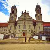 Chiesa di Einsiedeln, Svizzera Fotografia Stock
