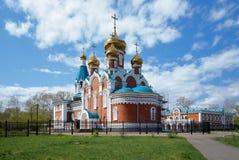 Chiesa di Elijah il profeta in Komsomolsk-su-Amur Immagini Stock Libere da Diritti
