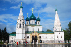 Chiesa di Elijah il profeta in Yaroslavl, Russia Immagini Stock Libere da Diritti