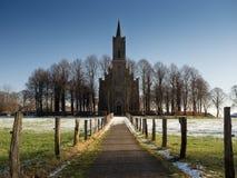 Chiesa di Elisabeth nel formato di paesaggio di Bedburg-Hau Louisendorf Fotografie Stock