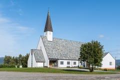 Chiesa di Elvebakken in Alta Finnmark Fotografie Stock Libere da Diritti