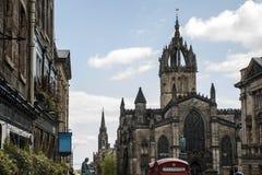 Chiesa 3 di Fassade di architettura della città storica della città di Edimburgo immagine stock libera da diritti