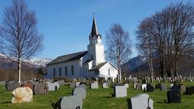 Chiesa di Fræna Immagine Stock