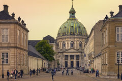 Chiesa di Fredericks a Copenhaghen, Danimarca Fotografie Stock