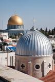 Chiesa di Gerusalemme e cupola della roccia Fotografie Stock Libere da Diritti