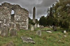 Chiesa di Glendalough fotografie stock libere da diritti