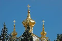 Chiesa di grande palazzo in Petrodvorets Fotografie Stock Libere da Diritti