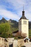 Chiesa di Gruyeres, Svizzera Fotografie Stock